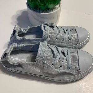a3d4b2258781e4 Women s Silver Glitter Converse Shoes on Poshmark